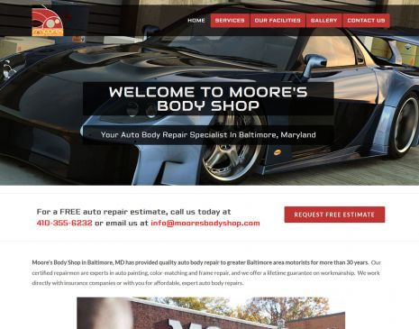 Auto Body Web Design