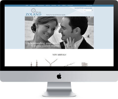 Zolands Diamond Jewelry Shopping Cart Web Design